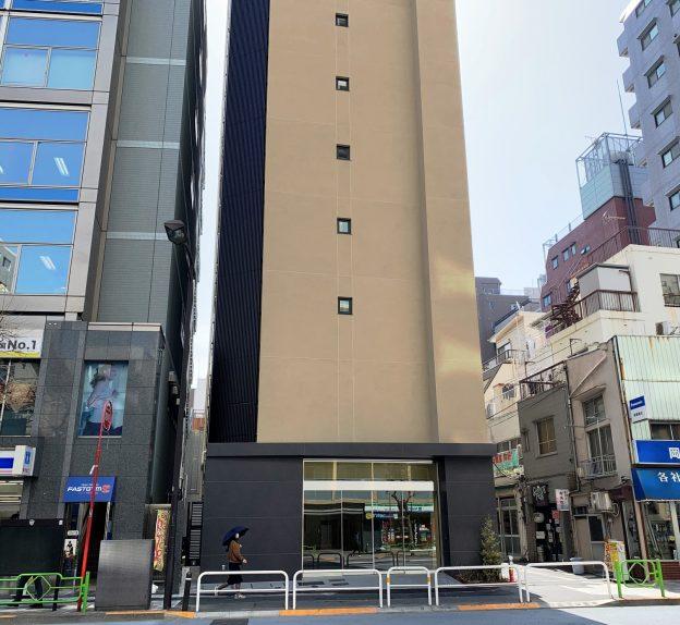 東京都中央区日本橋人形町/東京メトロ日比谷線・都営浅草線の人形町駅から徒歩1分、片側2車線の道路に面した視認性の良い新築14階建てマンション1階テナント